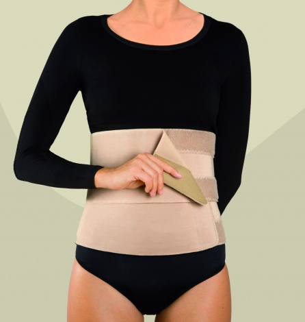 Abdominal Binder with two adjustable panels