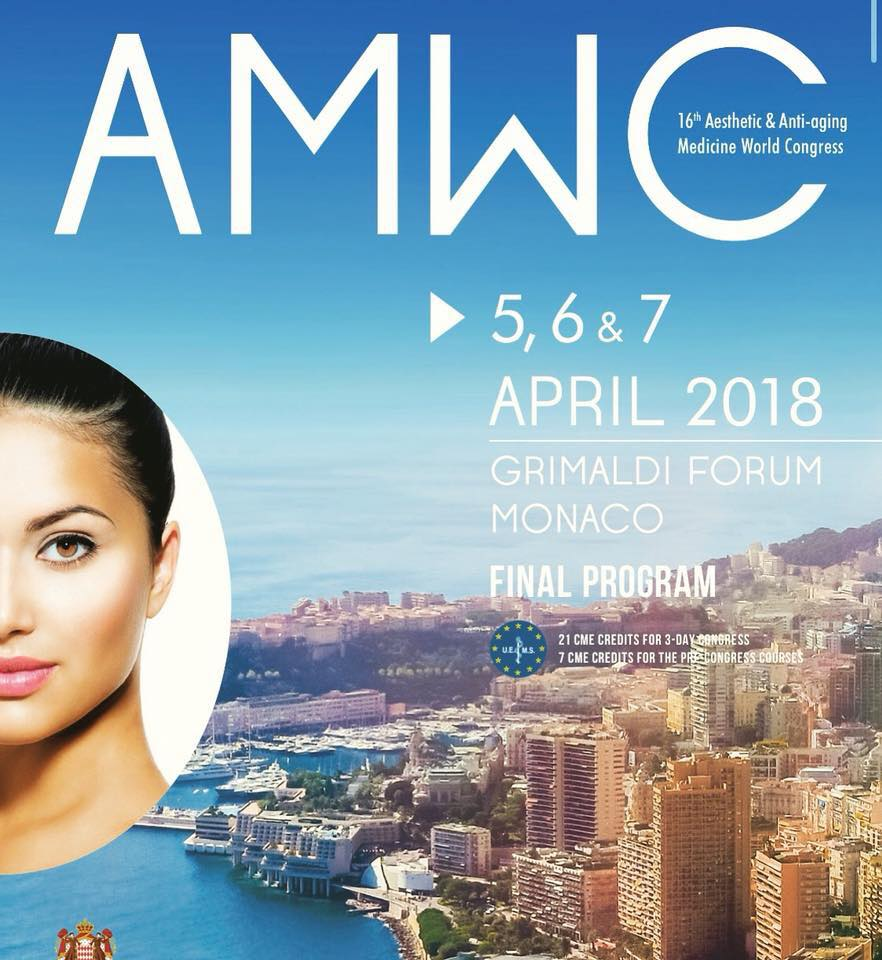 Come and meet us @ AMWC Aesthetic & Anti-aging Medicine World Congress in Monaco 5,6 & 7 April 2018