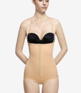 High waist girdle with straps
